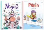 Une année avec Migali, une plongée avec Pépin.  Migali 2 – Une araignée au plafond ! / Pépin 1 – Pépin se jette à l'eau !
