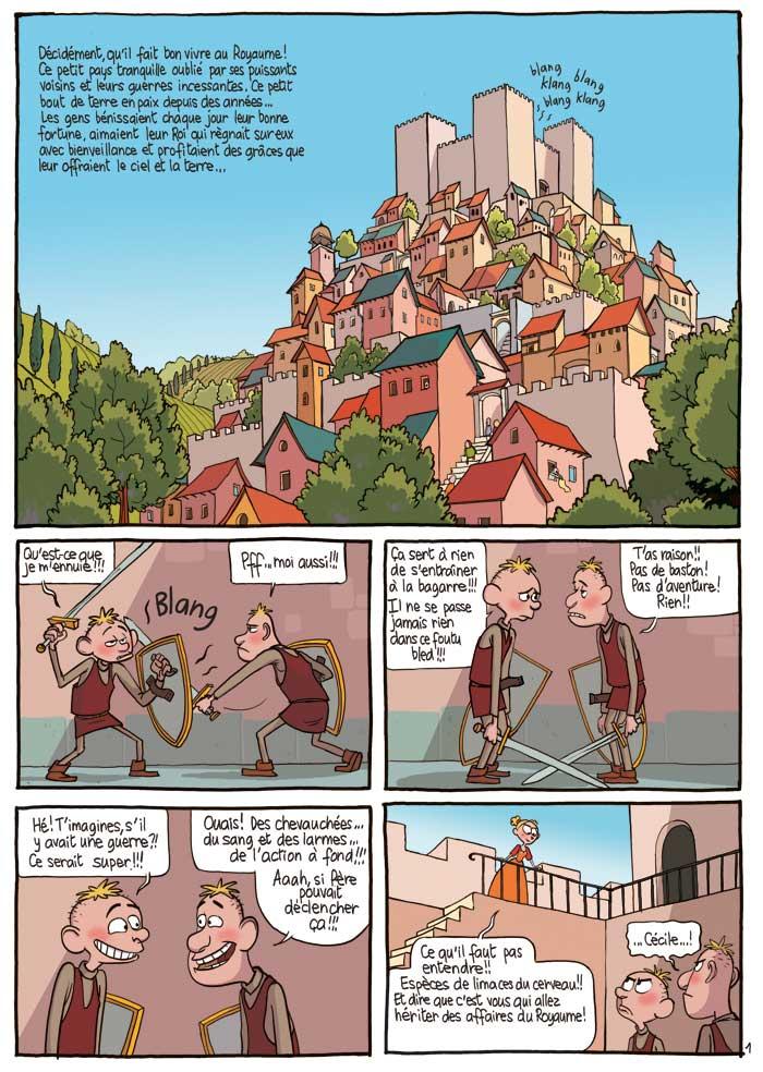 Extrait 1 Le Royaume (tome 2)  - Les deux princesses