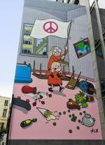 Nouvelle fresque BD : Kinky & Cosy s�ment la pagaille � Bruxelles