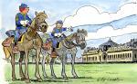 Les Tuniques bleues au musée du cheval du Domaine de Chantilly